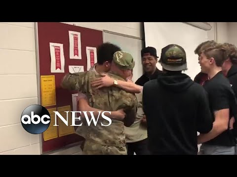 The Woody Show - Beloved deployed teacher with surprise homecoming