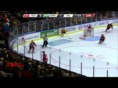 Switzerland v Sweden (3-5) - 2014 IIHF World Junior Championship