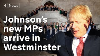 MPs arrive in Westminster after Boris Johnson victory