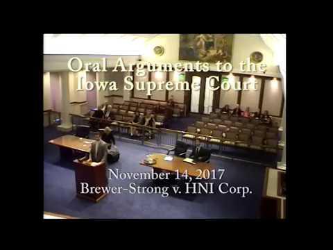 16-1364  Brewer-Strong v. HNI Corp., November 14, 2017