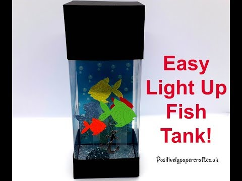 Easy LIGHT UP Fish Tank Tutorial