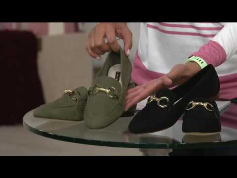 Louise et Cie Leather Loafers with Hardware- Faunia on QVC