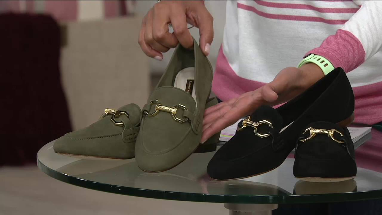 d1ad0e59aa4 Louise et Cie Leather Loafers with Hardware- Faunia on QVC - YouTube
