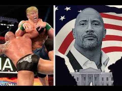The Rock destroys Donald Trump for the US Presidency 2020 (WWE MATCH)!!