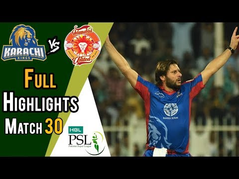 Full Highlights | Karachi Kings Vs Islamabad United  | Match 30 | 16 March | HBL PSL 2018