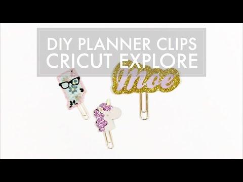 Cricut Explore + Inkscape // Planner Paper Clip Tutorial, planner DIY, paper clip DIY