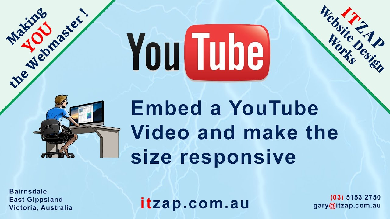 Embed YouTube video into your webpage and make it responsive