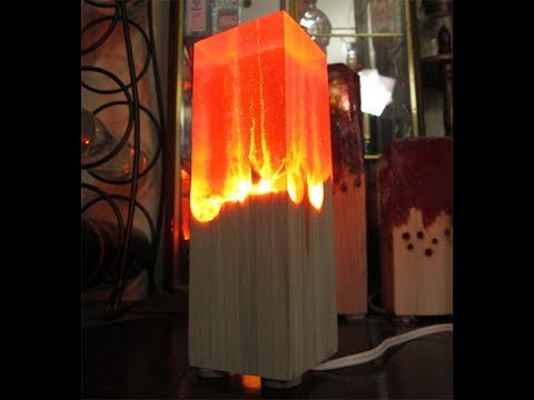 How to make a wood and resin lamp! DIY Tutorial!
