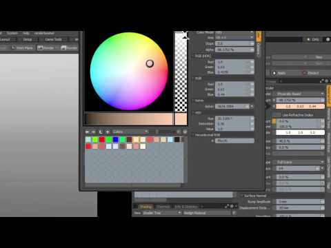 MODO 10 Quick Clip -- Color Picker Enhancements