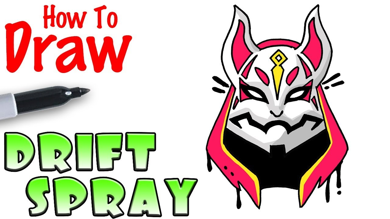 How To Draw Drift Spray Fortnite Youtube