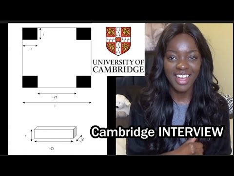Cambridge Interview PART 2 - Maths Questions included