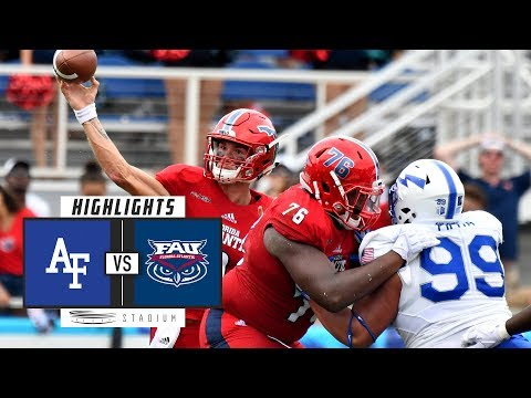 Air Force vs FAU Football Highlights (2018) | Stadium