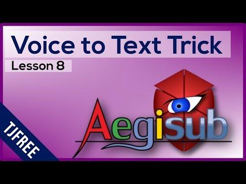 Aegisub Lesson 8 - Auto Voice to Text Trick with Goolge | المملكة