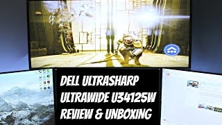 dell curved ultrawide monitor u3415w review unboxing