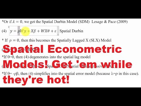 Overview Of Spatial Econometric Models