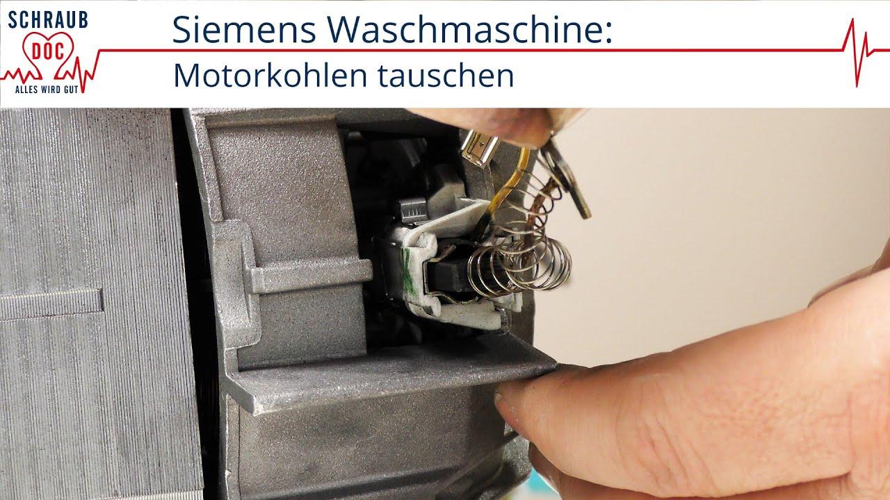 Siemens Waschmaschinenmotor Motorkohlen Tauschen Youtube
