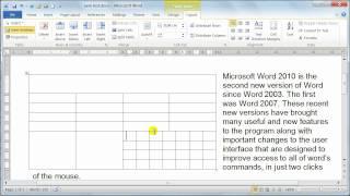 Microsoft Word 2010 formatting Tables - Table properties - Tutorial 20