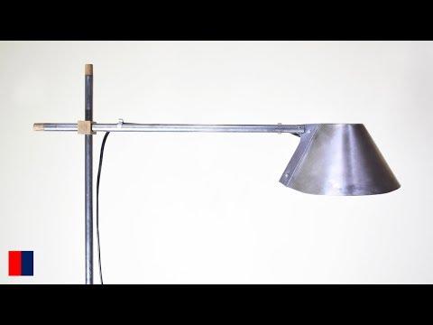 Making A Freestanding Oak + Steel Lampshade [72]