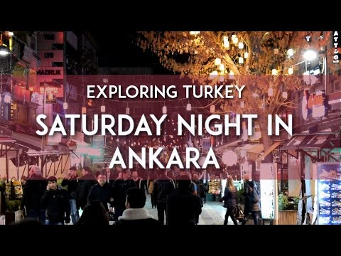 Exploring Turkey - Saturday Night in Ankara - Eating Waffle