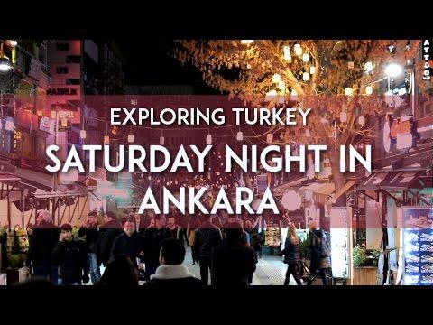 Exploring Turkey - Saturday Night in Ankara - Eating Waffle