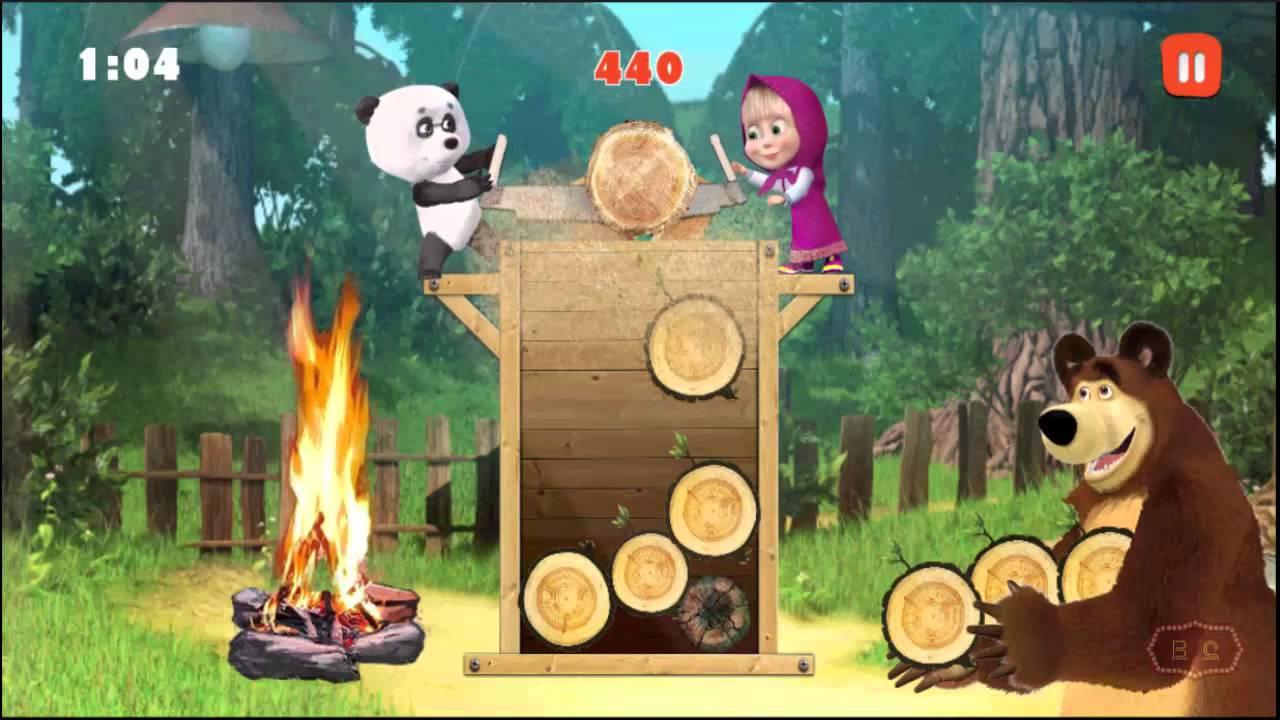 Jogo Masha E O Urso Jogos Infantis E Lenha Pra Fogueira 7