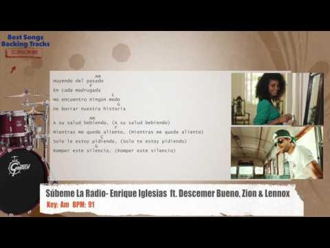 Súbeme La Radio - Enrique Iglesias  ft. Descemer Bueno, Zion & Lennox Drums Backing Track