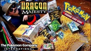 POKEMON SENT US NEW DRAGON MAJESTY POKEMON CARDS EARLY! UNBOXING THE MOST CARDS & BEST MYSTERY BOX!
