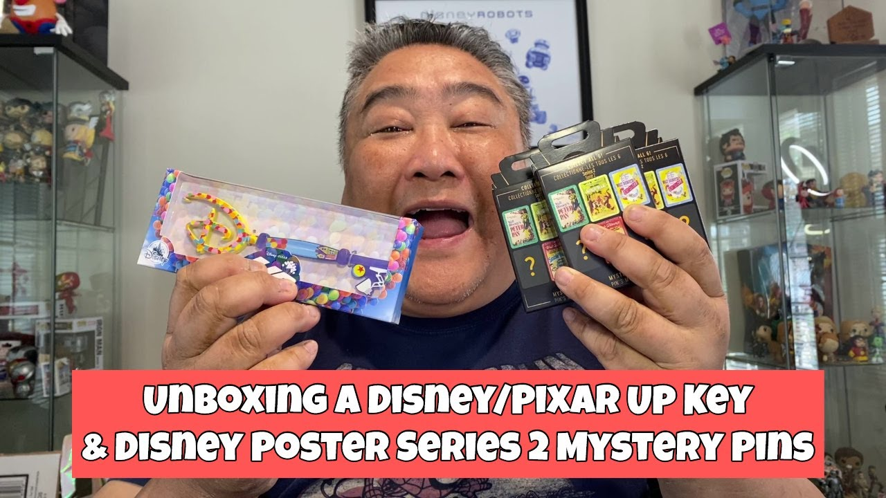 Unboxing A Disney Pixar Up Key and Disney Poster Series Mystery Pins