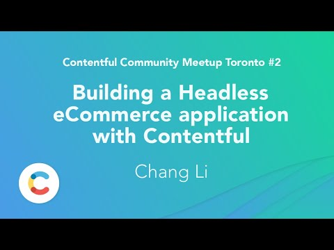 Building a Headless eCommerce application with Contentful