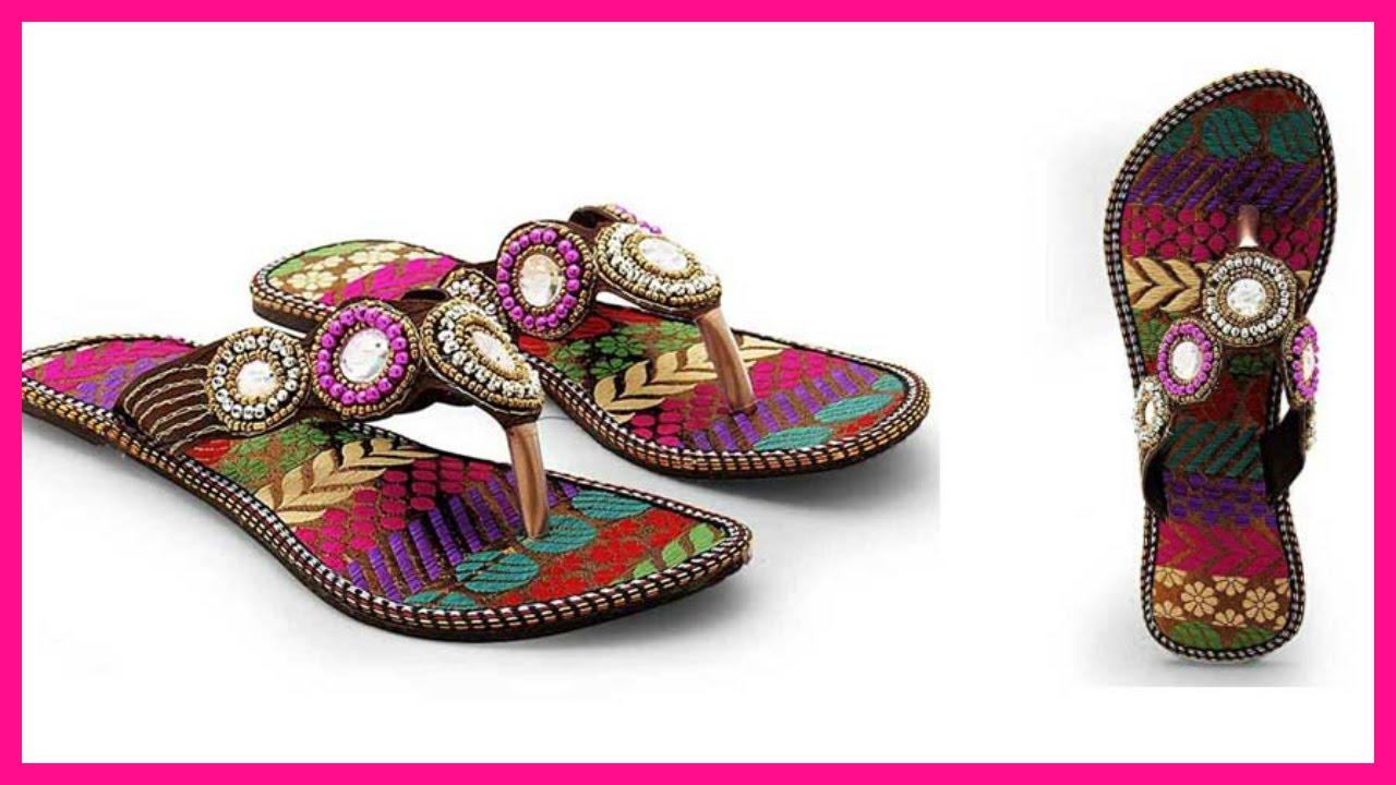 Rajasthani Ethnic Wear Chappal Designs