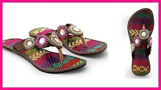 Rajasthani Ethnic Wear Chappal Designs For Women