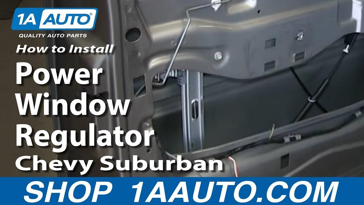 how to replace front window regulator 00 06 chevy suburban [ 1280 x 720 Pixel ]