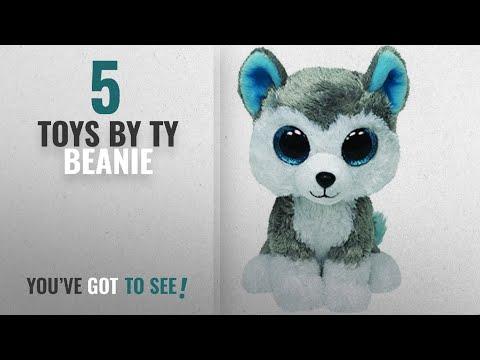 """New TY Beanie Boo Slush 6/"""" Grey//White Husky dog"""