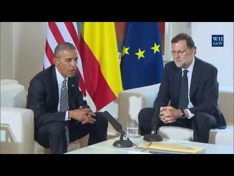 President Obama and Interim President Mariano Rajoy