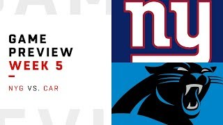 New York Giants vs. Carolina Panthers | Week 5 Game Preview | Around the NFL