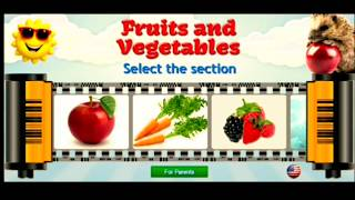 Best educational app for kids | fruits and vegetables learning app