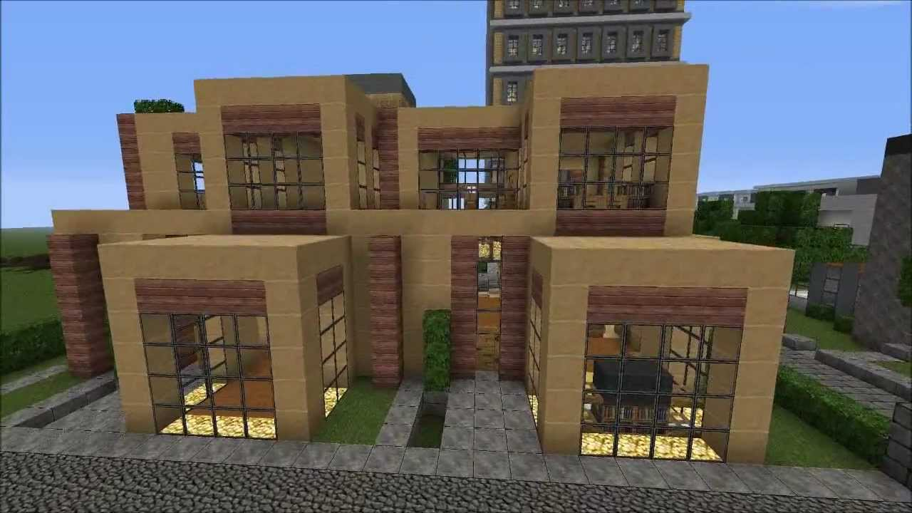 Minecraft Modern Townhouse HD YouTube - Minecraft moderne hauser plane