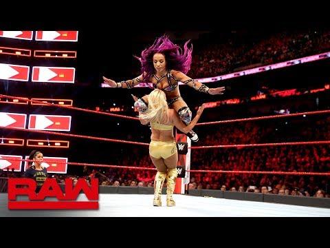 Sasha Banks vs. Mandy Rose: Raw April 9, 2018