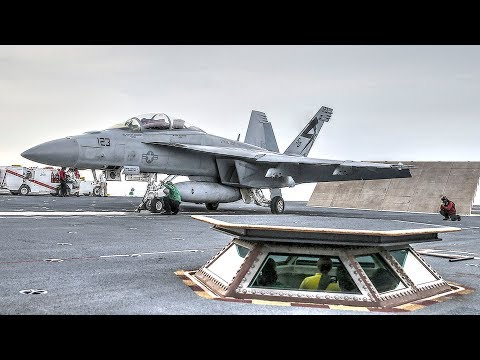 USS Ford Launches, Recovers Fighters With Electromagnetic Aircraft Launch System (EMALS)