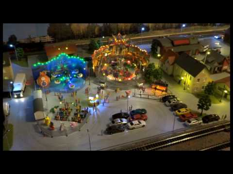 Funfair on H0  model railroad