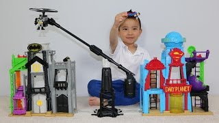 Epic Batman Superman Fight Super Hero Flight City Playset Unboxing With Ckn Toys