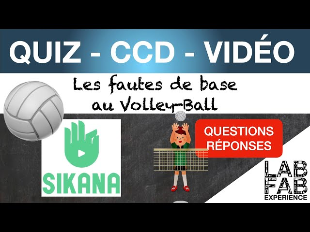 Quiz - CCD - Volley ball - Les fautes de base