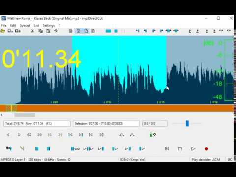 Mp3DirectCut - How to Cut a MP3 Audio File?