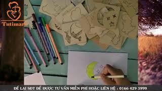 Bộ khuôn gỗ tập vẽ và tô màu cho bé