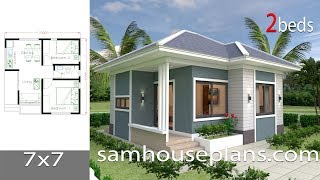 House Plans 7x7 With 2 Bedrooms Full Plans