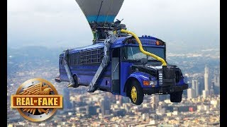 FORTNITE BATTLE BUS IN REAL LIFE - real or fake?