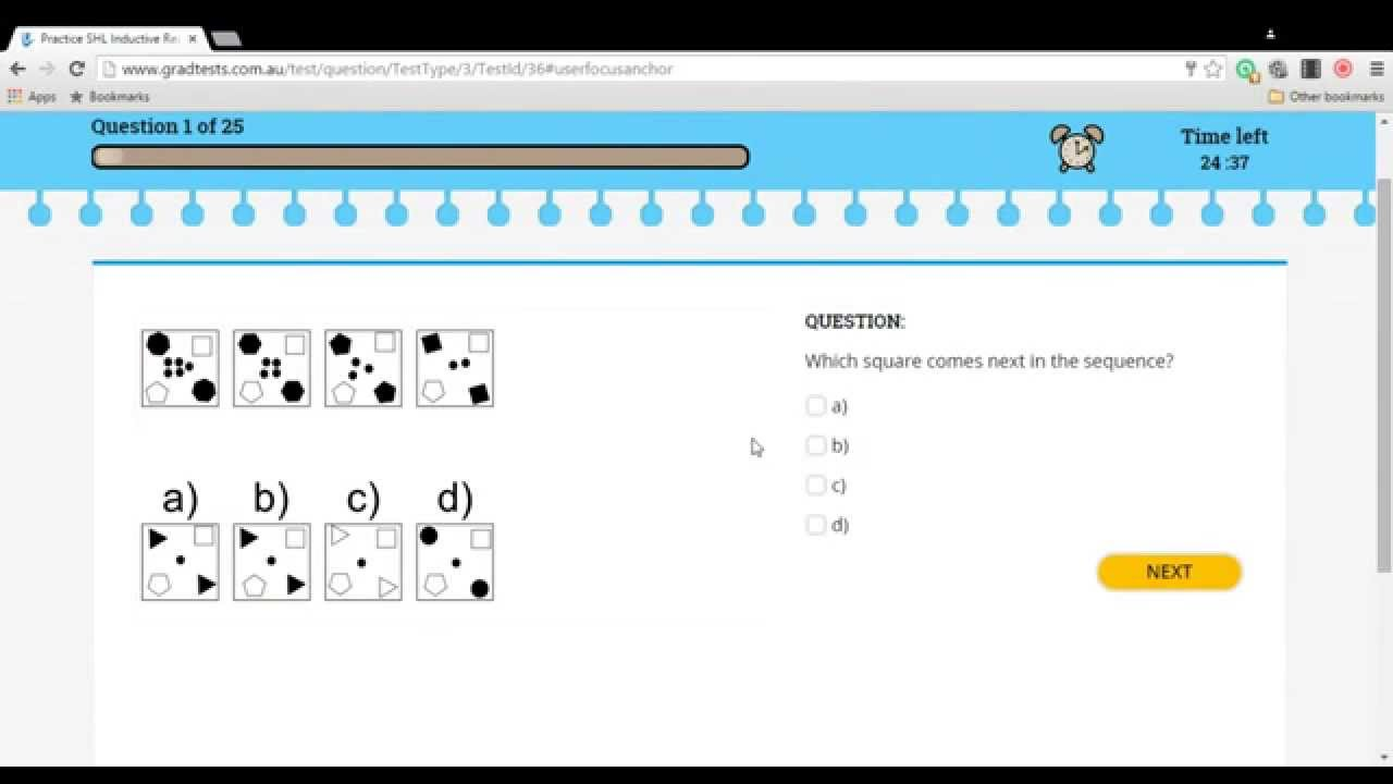 GradTests Inductive Reasoning Question Quick Example #1