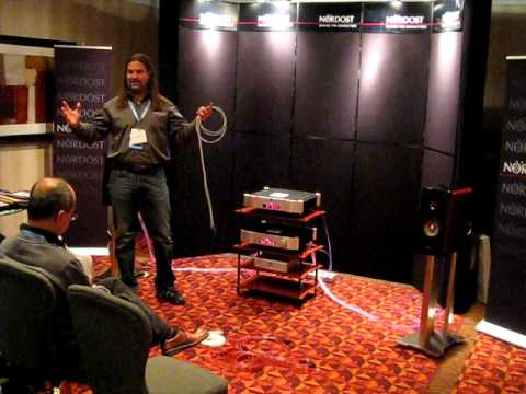 Nordost debut of LEIF cables by Bjorn at Montreal HiFi Show 2011 Part 2