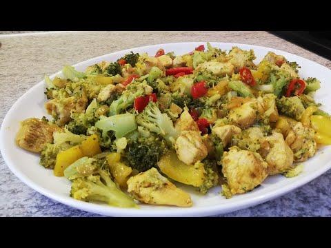 recette-poêlée-de-brocoli-et-poivron-au-poulet