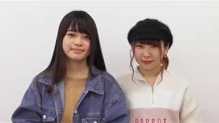 日本福祉大学生協 看護学部 新2年  左から 林 美玖さん、加藤実結さん